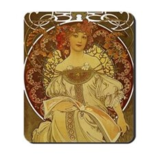 Dreams by Alphonse Mucha Mousepad