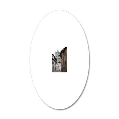 Sienna Cathedral 20x12 Oval Wall Decal