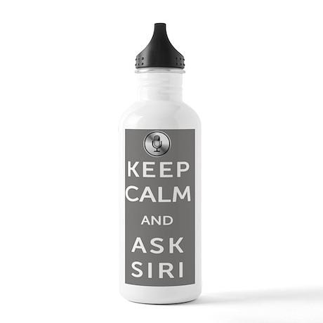 KeepCalmAskSiri11x17_p Stainless Water Bottle 1.0L