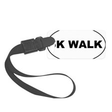 5K Walk Oval Sticker 3x5 Luggage Tag