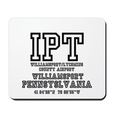 AIRPORT CODES - IPT - WILLIAMSPORT,PENNS Mousepad