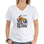 Steak & BJ Day Women's V-Neck T-Shirt
