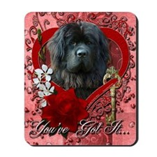 Valentine_Red_Rose_Newfoundland Mousepad