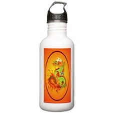 lkeychainFlaming Drago Water Bottle