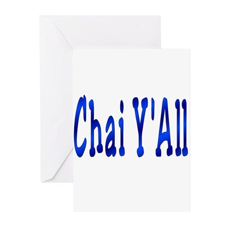Chai Y'All Hi Greeting Cards (Pk of 10)