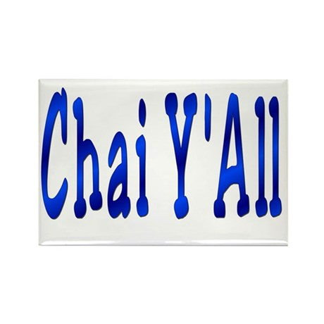 Chai Y'All Hi Rectangle Magnet (100 pack)