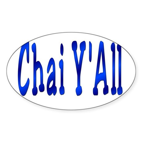 Chai Y'All Hi Oval Sticker