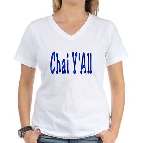 Chai Y'All Hi Women's V-Neck T-Shirt