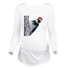 Acorn Woodpecker Bir Long Sleeve Maternity T-Shirt