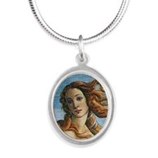 The Birth of Venus - Copy Silver Oval Necklace
