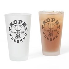 Trophy Husband Since 2012 Gray Drinking Glass