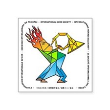 "fireman11 Square Sticker 3"" x 3"""