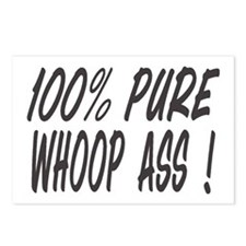 100% PURE WHOOP ASS Postcards (Package of 8)