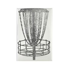 Metal Basket - Disc Golf NO TEXT Rectangle Magnet
