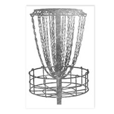 Metal Basket - Disc Golf  Postcards (Package of 8)