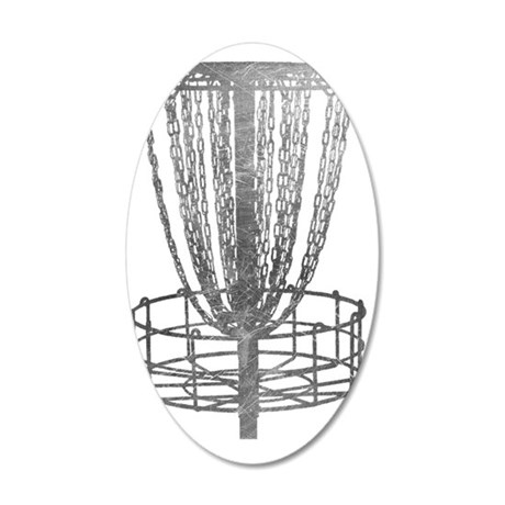 Metal Basket - Disc Golf NO  35x21 Oval Wall Decal