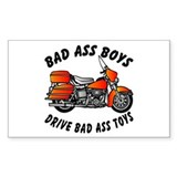 Biker BadAss Boys Drive BadAss Toys Decal