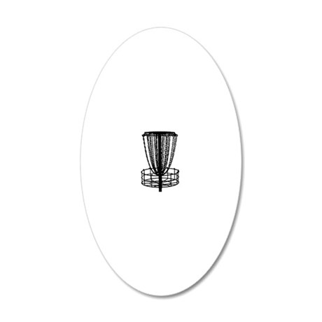black basket NO TEXT 20x12 Oval Wall Decal