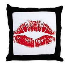 Lips Throw Pillow