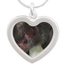 Lil-Drac-mousepad Silver Heart Necklace