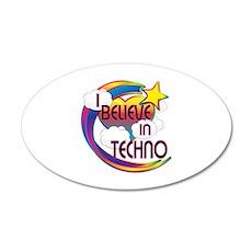 I Believe In Techno Cute Believer Design 20x12 Ova