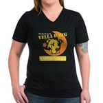 Yella Dawg Sarsaparilla Women's V-Neck Dark T-Shir