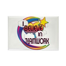 I Believe In Teamwork Cute Believer Design Rectang