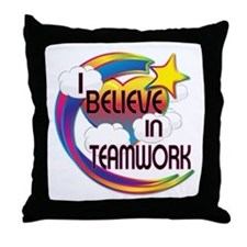 I Believe In Teamwork Cute Believer Design Throw P