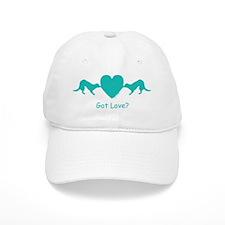 Valentine Heart Tug Blue Baseball Cap