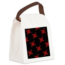 8bitskulslwalletred Canvas Lunch Bag