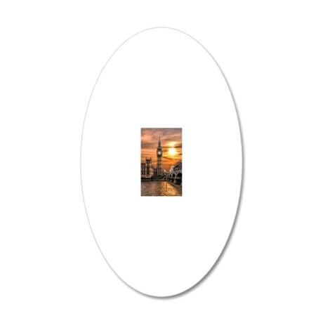 Houses of Parliament 20x12 Oval Wall Decal