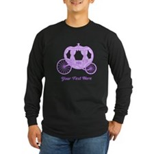 Purple Coach with Text Long Sleeve T-Shirt