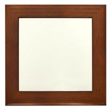 Oak tree white Framed Tile