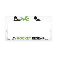 snot rocket black License Plate Holder