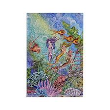 Mermaids Rectangle Magnet