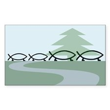 Family of 4 Evolution Rectangle Decal