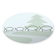 Family of 4 Evolution Oval Decal