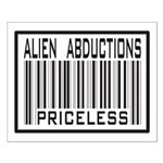 Alien Abduction Priceless Barcode Small Poster