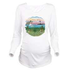 BIG-LIGHTHOUSE Long Sleeve Maternity T-Shirt