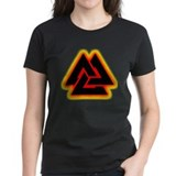 Flaming Valknut Tee