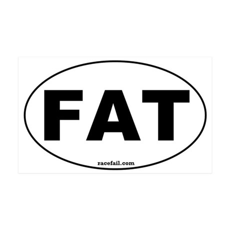 FAT Oval Sticker 3x5 35x21 Wall Decal