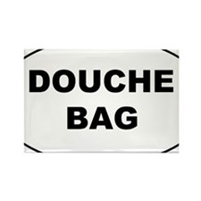 Douchebag Oval Stiker 3x5 Rectangle Magnet