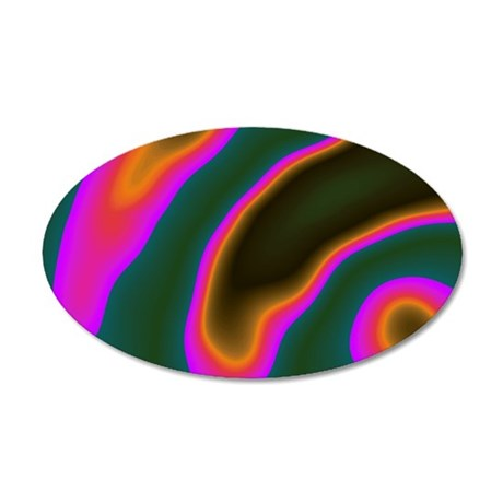 CartoonColors1 35x21 Oval Wall Decal