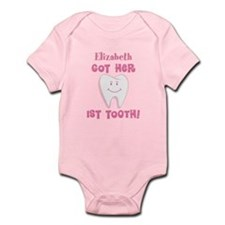 Personalized 1st Tooth Baby Girl Body Suit