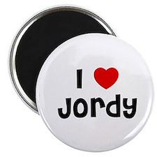 """I * Jordy 2.25"""" Magnet (10 pack)"""
