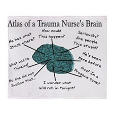A Trauma Nurses Brain Throw Blanket