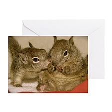 babysquirrelsmousepad1 Greeting Card