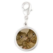 babysquirrelsmousepad1 Silver Round Charm