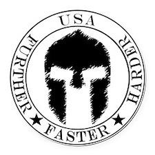 Spartan Fitness Round Car Magnet