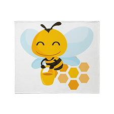 happy_honeybee Throw Blanket